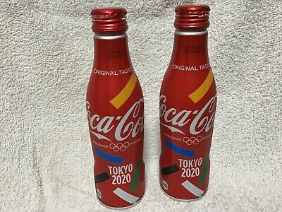 NEW Japan  coca cola  2020 olympic Tokyo limited 250ml full bottle aluminum X2