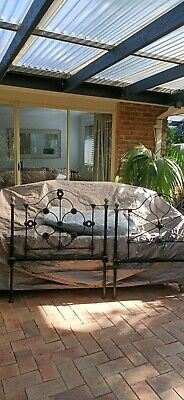 Antique  wrought iron single bed ends