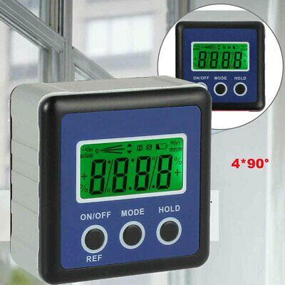 4*90° LCD Digital Protractor Inclinometer Magnetic Angle Finder Gauge Bevel Box。