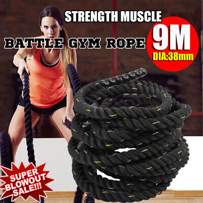 38mm Battle Power Rope Battling Sport Bootcamp Gym Exercise Fitness Training 9M