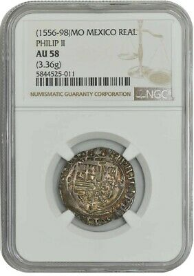 (1556-98) MO Mexico Real Philip II AU58 NGC 942647-7