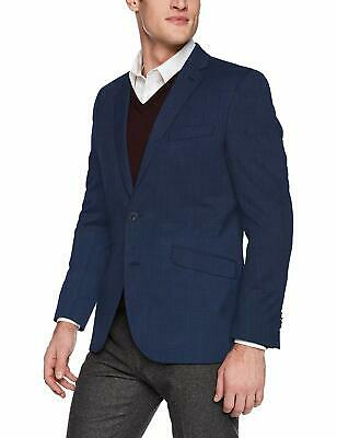 Kenneth Cole Mens Sport Coat Blue Size 48 Two-Button Notched Collar $180 #154