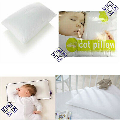 Cot Bed Pillow Comfort Hollowfibre Filling Nursery Kids Baby Toddler in UK size