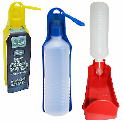 Pet-Pro 500ml Travel Water Bottle with Belt Clip Dog Cat Random Colour