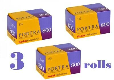 3 Rolls Kodak Portra 800 135-36 Professional Color Negative Film, 800 ISO Fresh