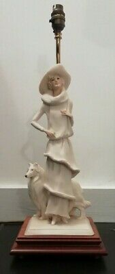 Vittorio Tessaro Collectable Lady With Dog Table Lamp