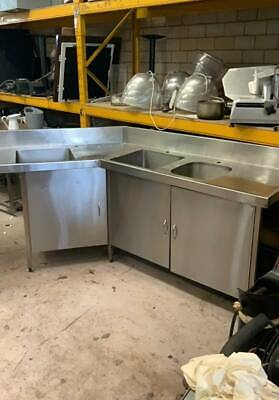 Custom Made Stainless Steel Bench/ Sink   #031404