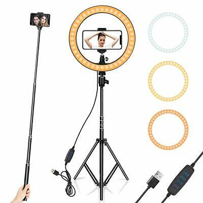 """Ring Light 10"""" with Tripod Stand & Phone Holder for Streaming, Makeup,Selfie"""