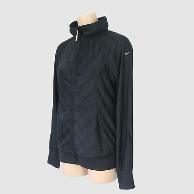 Nike Dry Fit Womens Active Jacket Black Size L 14 Breathable Running Gym