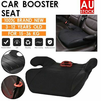 3-12 Years Children Kids Car Booster Seat Safety Chair Cushion Pad Sturdy Black