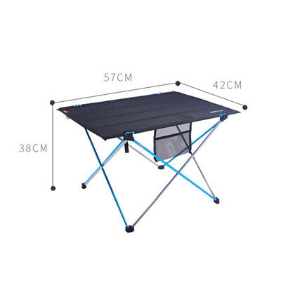 Folding Table Portable Outdoor Picnic Party Dining Camp With Cup Holder Camping