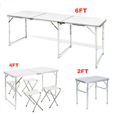 Portable Picnic Party Adjustable Folding Table Step Up Stool Camping Outdoor BBQ