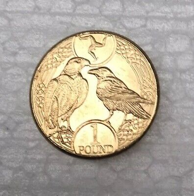 2017 Isle of Man Falcon & Raven £1 coin - Circulated