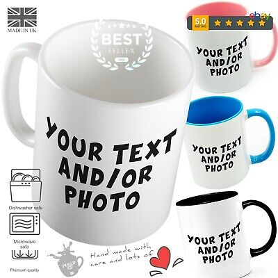 PERSONALISED PHOTO MUG CUSTOM CUP NAME GIFT DESIGN Fathers Mothers Day Birthday