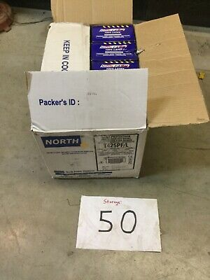 4 Boxes Of 100 North T425PF/L Disposable Gloves - Latex, Powder-Free, Large