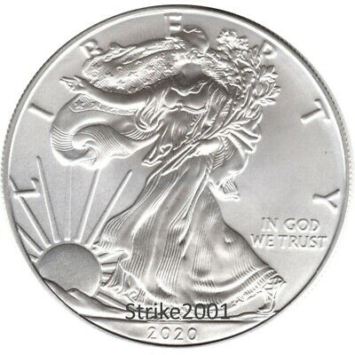 NEW !!! Dollaro USA 2020 Oncia Argento Liberty Eagle 1 oz. NEW !!!