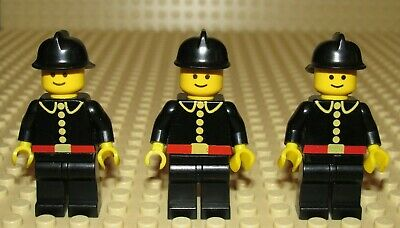 LEGO Male Minifigure Firefighter /& White Helmet Extinguisher Axe Chief City