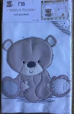 Mothercare teddy's toy box Cot Pockets 🌟🌟 BRAND NEW 🌟🌟