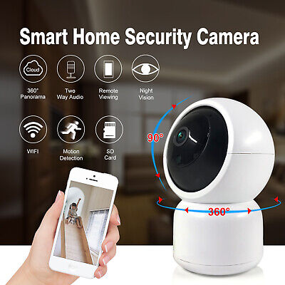 Home Security Wireless WiFi IP Camera 1080P Pan Tilt Night Vision Cloud Tuya APP