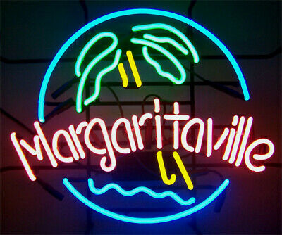 Jimmy Margaritaville Palm Tree Neon Sign Lamp Light Beer Bar With Dimmer
