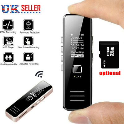 4//8//16GB Digital Audio//Sound//Voice Recorder Dictaphone MP3 Player Rechargeable