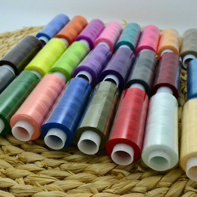 24x Assorted Colour Polyester Sewing Thread Spool Set For Stitching Art Hot Item