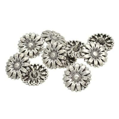 1PC Metal Sunflower Carved Antique Sewing Craft DIY Buttons M0C8 Su Shank S Y0B6