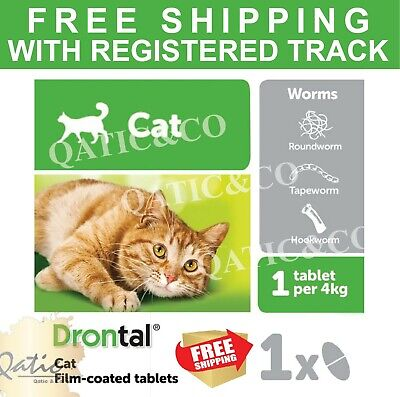 Bayer Drontal 8 Tablets For Cats And Kittens Dewormer Best Treatment