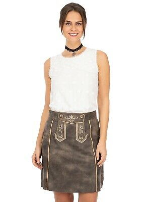 Maddox Leather Skirt Dorle Nappato Anthracite