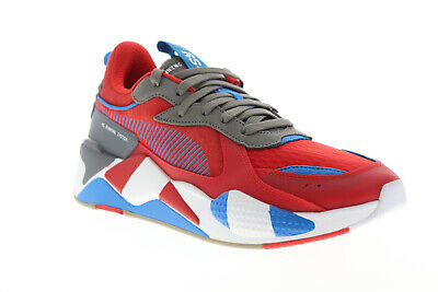 Puma RS-X Retro 37151101 Mens Red Suede Lace Up Low Top Sneakers Shoes