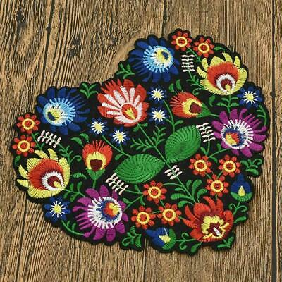 Heart Patch Flower Embroidered Applique Sew Iron On Bag DIY Badge Craft Fab M5V1