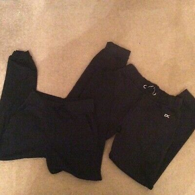 2X Pairs of Black Jogging Bottoms  - Age 9-10 Years and 10 Years (Next etc)