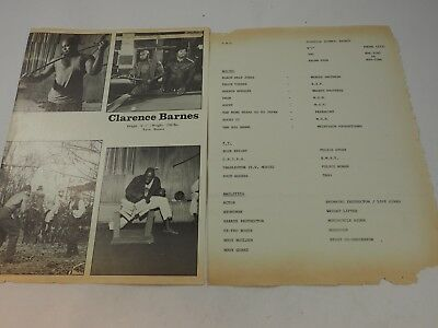 Clarence Barnes Autographed 2 page Talent S.A.G. Photos and History