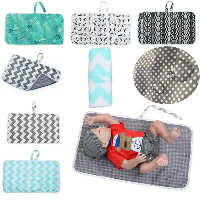 Infant Portable Nappy Change Mat Waterproof Foldable Diaper Changing Pad Urinal