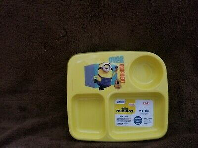 Zak Designs Toddlerific 3 Section toddler plate minions