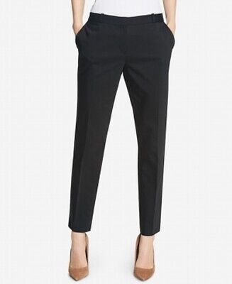 Tommy Hilfiger Women's Black Size 16 Slim Leg Ankle Dress Pants $79 #435