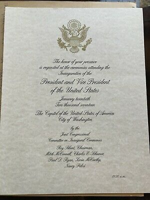 OFFICIAL President Donald Trump Presidential Inauguration Red Stub Ticket Invite