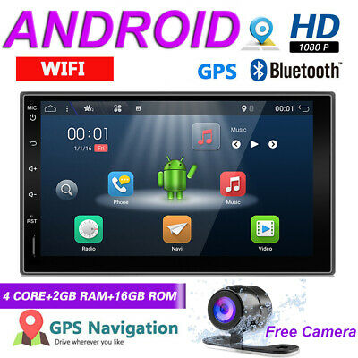 """7""""Android Double DIN FM/AM Player Car Stereo Universal Radio SAT NAV WiFi DAB+BT"""