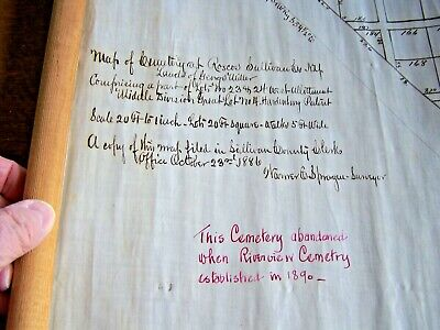 Roscoe, Ny-Cemetery Map Dated 1886-Prior To Riverside Cemetery