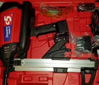 POWERS FASTENERS C5 TRAKIT Gas Tool Kit.  1- Battery, Charger &Case BRAND NEW