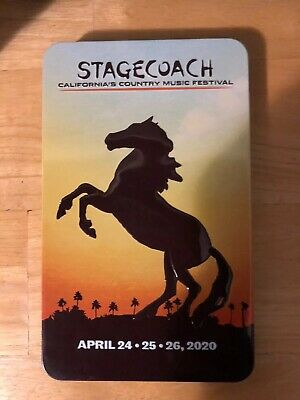 TWO (2) General Admission Stagecoach 2020 Tickets 3-Day Passes 10/23-10/25