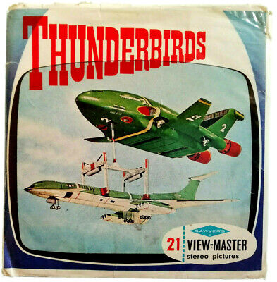 3x VIEW MASTER 3D REEL ⭐ THUNDERBIRDS ⭐ + BOOKLET / 1966 / Gerry Anderson / B453