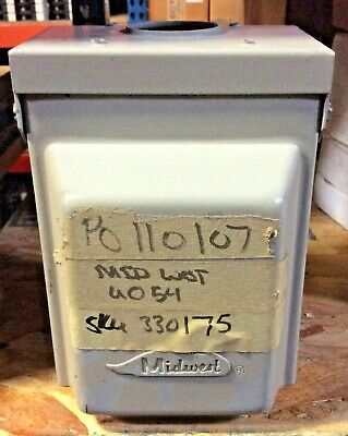 Midwest Rainproof Power Outlet U054 50 Amps 120 Volts A-C Type 3R Enclosure Used
