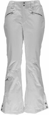 Spyder Women Activewear Pants White Size 10 Insulated Me Athletic Fit $250- #257