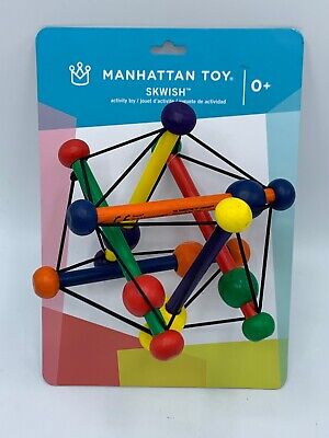 Manhattan Toy Company Skwish Classic Rattle and Teether Grasping Toy