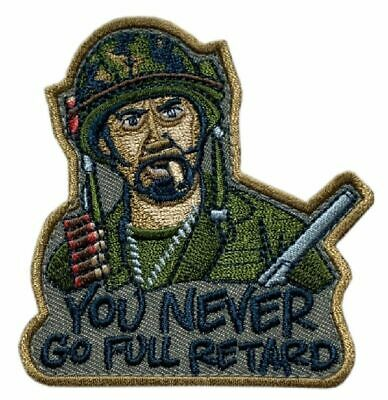 "Tropic Thunder Movie Downey Jr Tactical Patch (""Velcro Brand"" Fastener - MP1)"