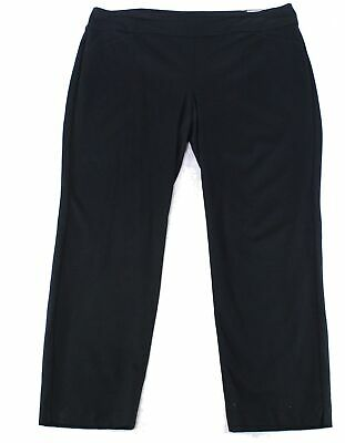 Charter Club Women's Black Size 22W Plus Pull On Slimming Pants Stretch $69 #507