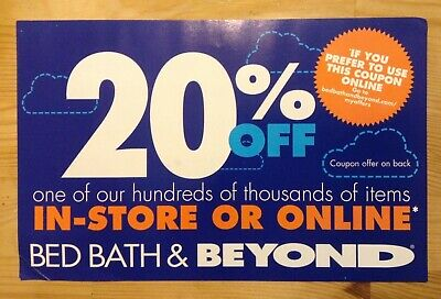 ExpiredBED BATH & BEYOND In-Store Only Coupon 20% off One Item