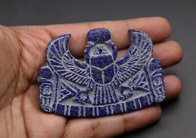 ANCIENT EGYPT EGYPTIAN Antiques WINGED SCARAB Beetle Khepri Ra LAPIS LAZULI BC