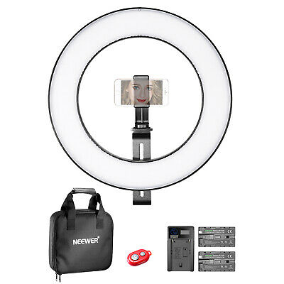Neewer 14-inch Outer Dimmable Bi-color SMD LED Ring Light Lighting Kit